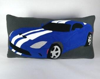 Dodge Viper Pillow Detailed Custom Handmade Car