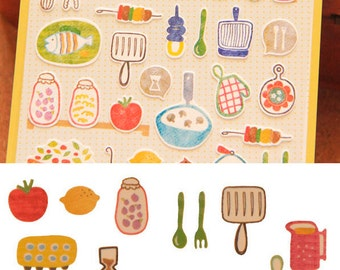 Korea deco paper sticker combo ~ Kitchen