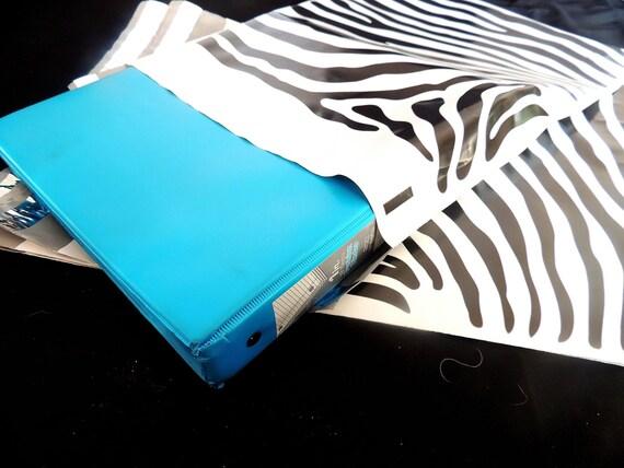 100 pack 12 x15 zebra decorative poly mailers flat zebra