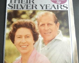 EVENING  STANDARD 1972 Their Silver Years Royal Souvenir