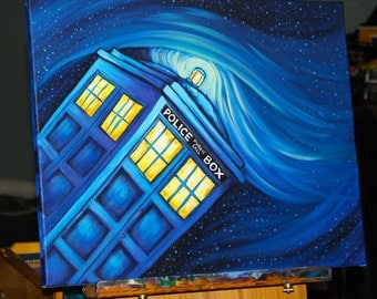 CustomDr Who Tardis Painting, Made to Order