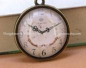 Circle Cabochon 20mm Charm Flower  Watch Face Glass Photo Pendant blank antique bronze Victorian Bead Earr drop Glass Pendant Tiles handmade