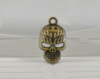 5 Charm Bone Bronze Plated Victorian Pendants Connections Beads ----- 12mm x21mmmm ----- 5Pieces 2E