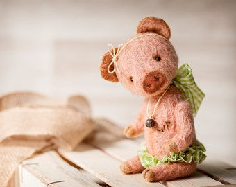 Teddy Bear Pig Kirei Pattern by SoftlyBearPaw 28cm ePattern PDF