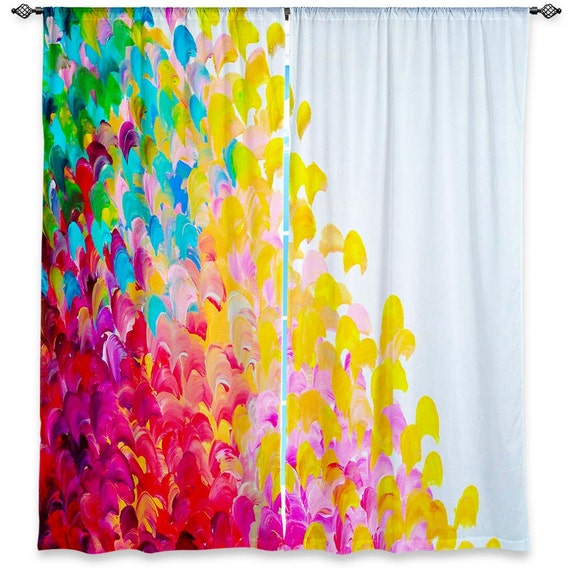 COLORFUL Fine Art Window Curtains, Multiple Sizes Abstract