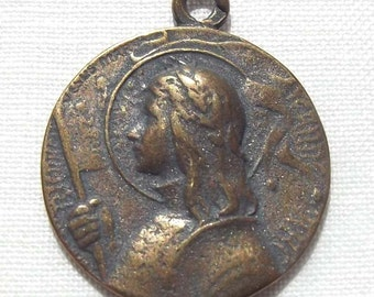 Bronze St. Saint Joan of Arc Medal VP423