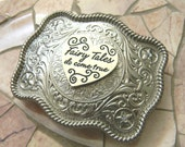 Fairy Tales Do Come True, Silver Western Disneybound Buckle, Fairytale Wedding, Pageant OOC, Womens Girls Belt Buckle, Disney Princess ABC