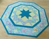 Quilted Tabletopper Butterfly Sparkle Blue 282