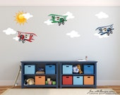 Fabric Wall Decals, Airplanes Theme Fabric Wall Decals, Airplane Wall Art, Aviation theme, Plane Stickers
