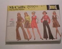 Vintage McCalls Pattern 2050 Junior Petite Separates