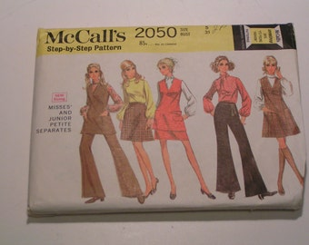 Vintage McCalls Pattern 2050 Junior Petite Separates