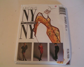 Vintage McCalls Pattern 5083 NY Collection Miss Lined Jacket and Dress in two lengths