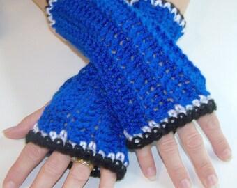 Doctor Who TARDIS Inspired Fingerless Gloves