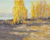 Autumn Abandon - Original Fall River Landscape Painting