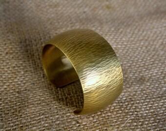 Hammered Brass Cuff Bracelet
