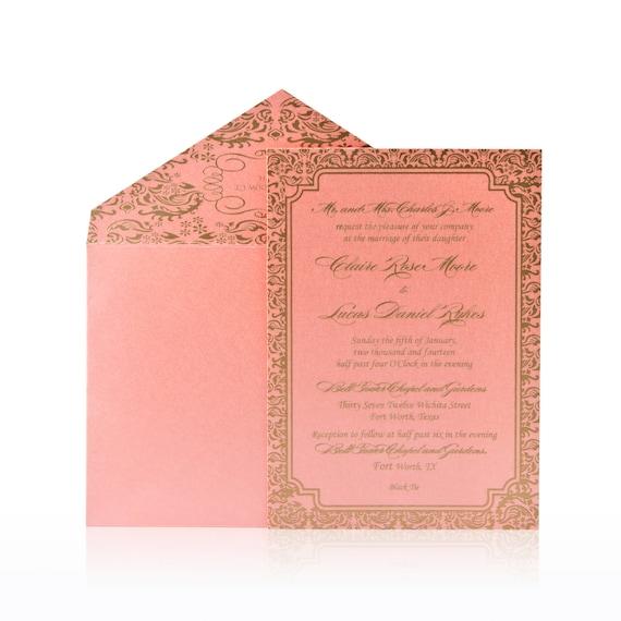 Unique Luxury Wedding Gifts : Custom Luxury Invitations- Cutom DieCut Wedding Invitations - Metallic ...