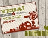 Farm Birthday Invite