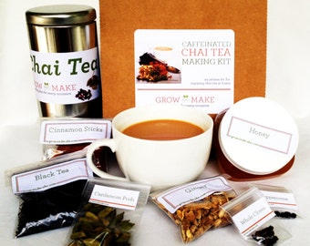 DIY Artisan Caffeinated Chai Tea Kit