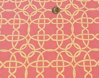 Michael Miller fabric Pink Wicker