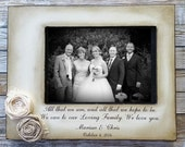 Wedding Gift Frame Rustic Custom  Distressed Vintage Picture 4x6 Thank you Parent loving family  Photo Frame - Personalized Gift - Keepsake