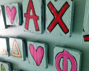 Greek letter magnet Set - Made to Order