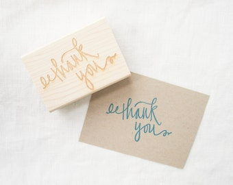 Thank You stamp - large thank you rubber stamp - thank you card stamp - thanks - thank you card making - K0018