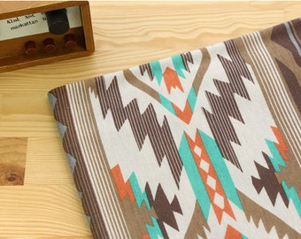 Geometric Polyester Knit Fabric - Brown - By the Yard 56699 - GJ