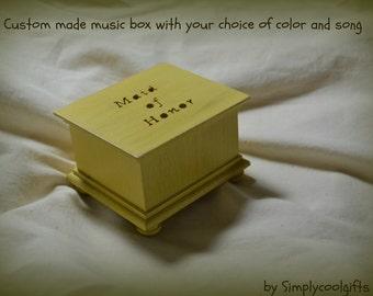 music box, musical box, music boxes, wooden music box, custom music box, maid of honor, musicbox, personalized music box, wedding music box