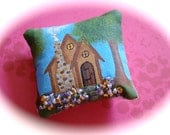 Cozy Cottage Miniature Dollhouse Pillow