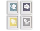 Safari Nursery Art Prints - Nursery Decor, Modern Baby's Room Wall Art, Childrens, Baby Nursery, Playroom, Nursery Decor, Babys Room Decor