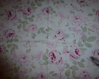 RARE and Discontinued Vintage Rachel Ashwell Fabric  Rosalie Shabby Roses Fabric  Cotton Poplin Fabric