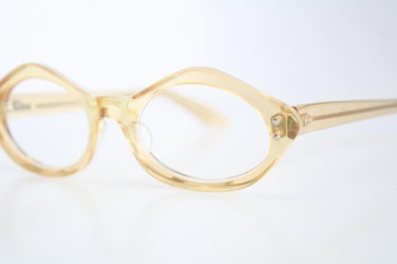 Vintage Eyeglass Frames New Old Stock : Vintage Eyeglasses Swan Yellow Unused New Old Stock 1970s