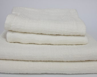 Linen Bath Towel / Washed linen towel / Soft linen towel SHIPPING WORLDWIDE  Pre-washed Softened White 100% linen towel RAR162SK