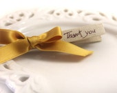 Set of 10 Rustic Chic Favors  - Wedding Decoration in Yellow Ochre - Shabby Chic - Wedding Favors - Country Chic Wedding