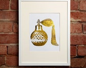 Gold Vintage Perfume Bottle