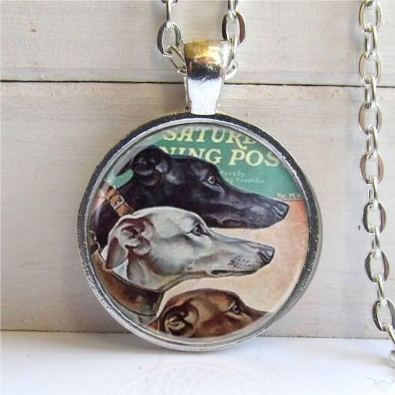 Greyhound Pendant, Greyhound Lover's Gift, Greyhound Jewelry