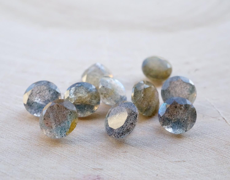 6mm faceted labradorite gemstones grey gemstone by