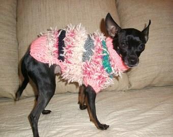 Small Dog Sweater-Chihuahua sweater-Pet Sweater-Dog Costume-Size S