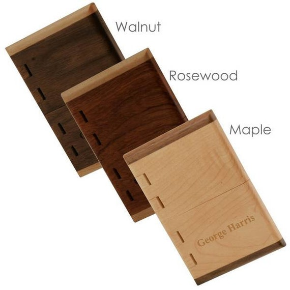 Handcrafted wooden business card case for Wooden business card case