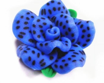 4pc Handmade Polymer Clay Flower Beads-4384