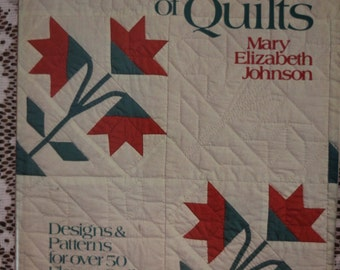 A Garden of Quilts by Mary Elizabeth Johnson with Designs & Patterns for over 50 Flower Quilts - Hard Back Quilting Book