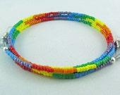 Rainbow beaded eyeglass chain for men or women - reading glasses - glasses chain - glasses leash - glasses holder - GLBT - LGBT