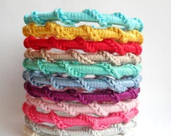 Cotton crochet bangles
