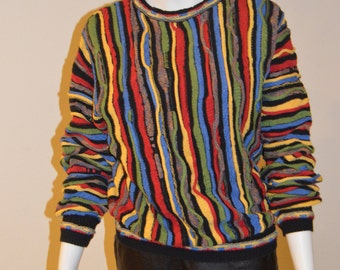 90s knit multicolor Roundtree & Yorke sweater