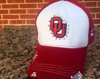 Oklahoma Sooners OU Bling Rhinestone Hat