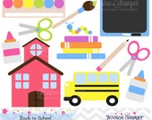INSTANT DOWNLOAD, back to school clip art, teacher clipart, commercial use, graphic, school design