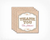 Rustic Gift Tags - Custom Colors - PRINTABLE Thank You Favor Tag Labels - Rustic Wedding Birthday Bridal Shower - Vintage Lace Collection
