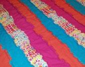 LEOPARD PRINT strip rag quilt