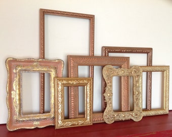 ... Touch of Pink Ornate Frame Wall Grouping - Set of 7 Open Frames