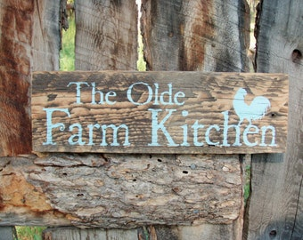 Kitchen Made  Sign Rooster Sign Sign In Sign timber Rustic Farm signs australia rustic Montana